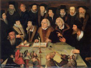 Martin Luther im Kreise von Reformatoren