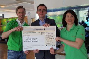 1.111,11 Euro für das Kinderhospiz Mitteldeutschland gespendet