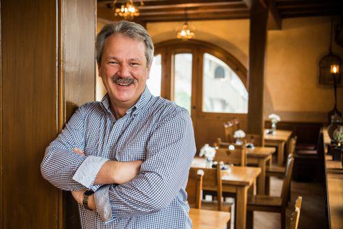 Michael Jäckel im Burgcaf#e auf der Wartburg