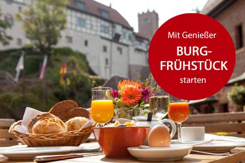 Burgfrühstück mit Blick auf die Wartburg in Eisenach
