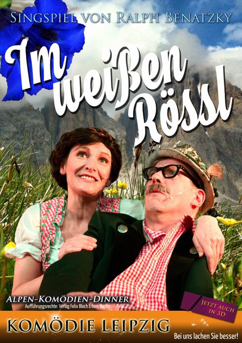 Plakat Im Weißen Rössl mit der Komödie Leipzig im Wartburghotel in Eisenach
