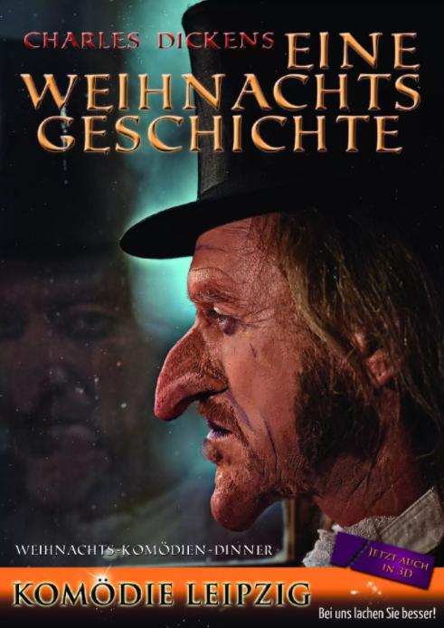 Plakat Weihnachtsgeschichte mit der Komödie Leipzig im Wartburghotel in Eisenach