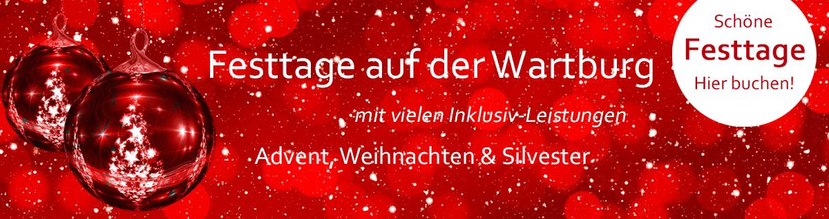 Angebote zu den Festtagen im Wartburghotel in Eisenach jetzt buchen