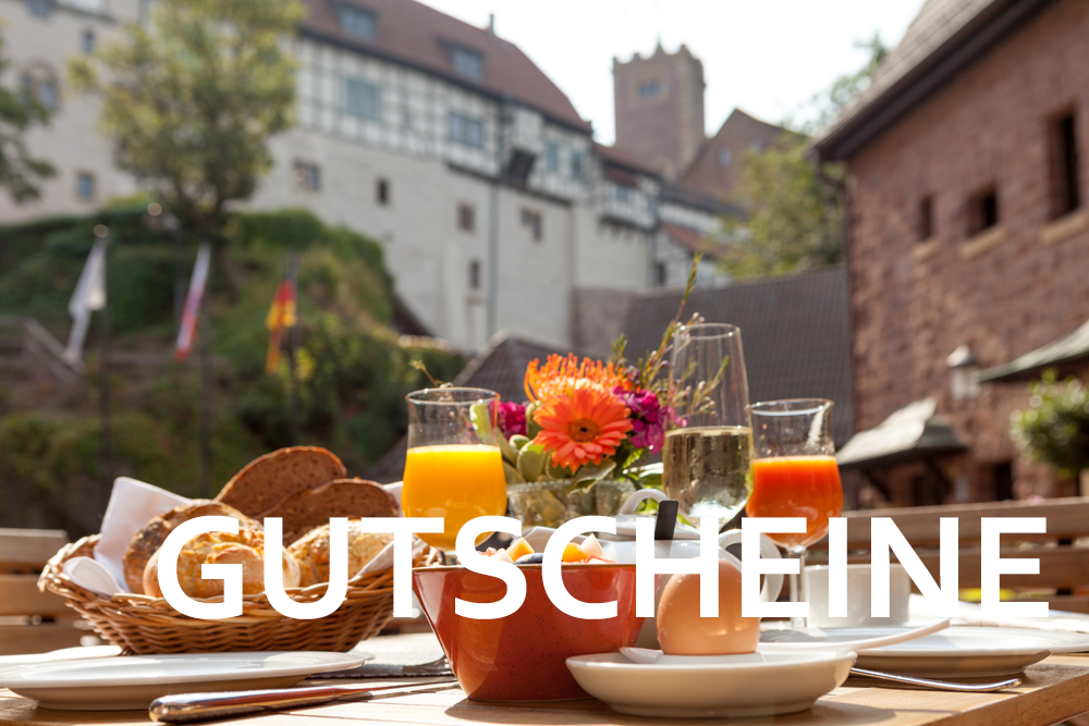 Gutscheine vom Wartburghotel für den Urlaub in Eisenach verschenken