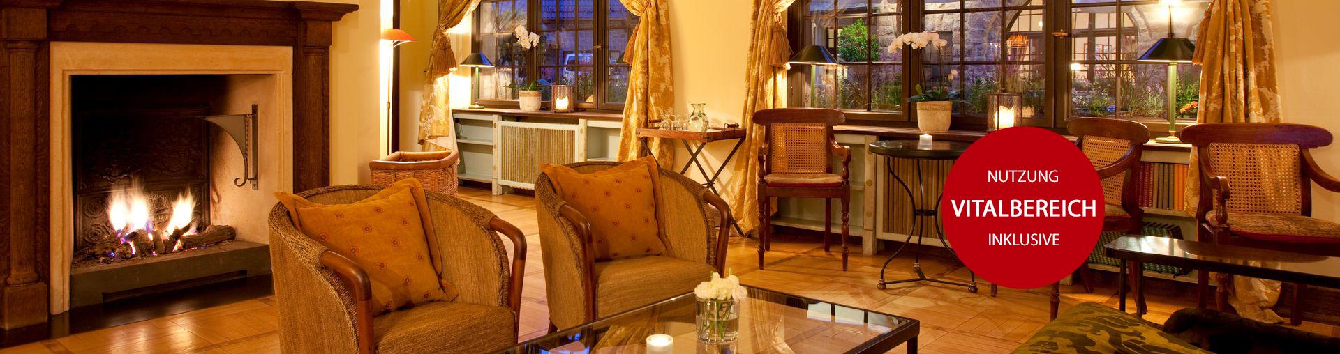Angebot Kaminromantik im Winter im Romantik Hotel auf der Wartburg in Eisenach