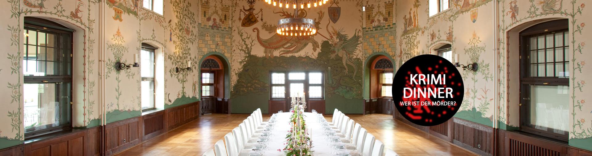 Angebot Krimidinner im Wappensaal Romantik Hotel auf der Wartburg in Eisenach