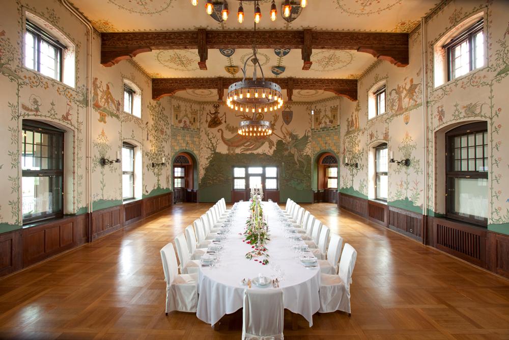 Krimidinner im Wappensaal vom Wartburghotel in Eisenach