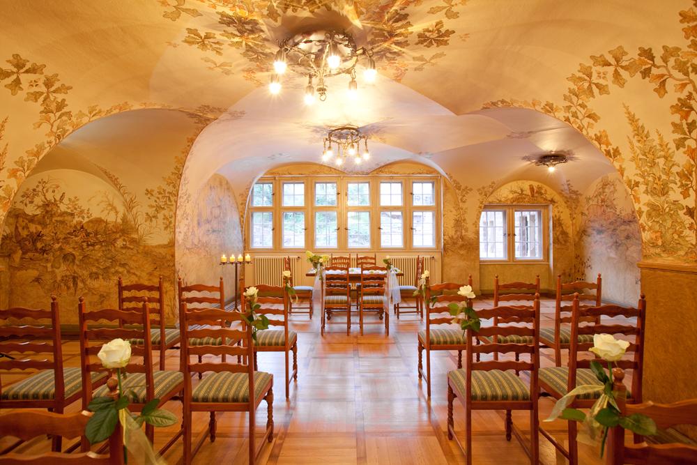 Trauung im Jägerzimmer vom Wartburghotel in Eisenach