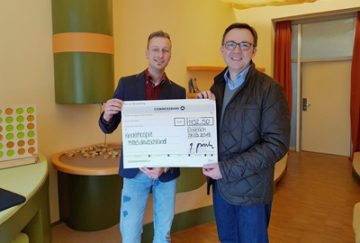 Wir haben 1.152,50 Euro an das Kinderhospiz Mitteldeutschland gespendet